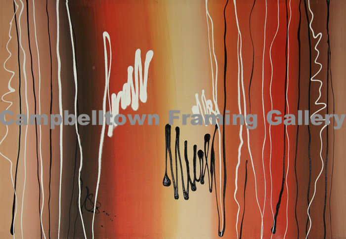 Original Arwork for Sale at Campbelltown Framing Gallery red outback colour