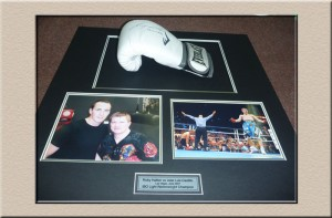 Boxing 3D Box layout Campbelltown Framing gallery memorabilia