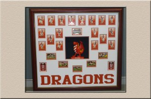 Dragons Cards 3D Box at Campbelltown Framing Gallery