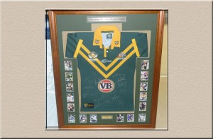 Football Jersey 3D Box at Campbelltown Framing Gallery