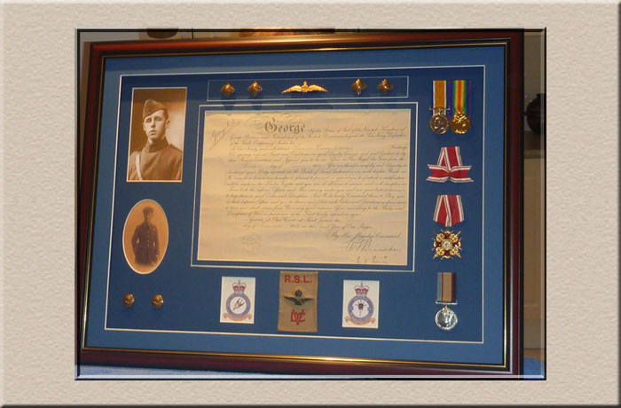 framing medals and military memorabilia at Campbelltown Framing Gallery
