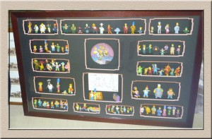Simpsons Characters in 3D Box at Campbelltown Framing