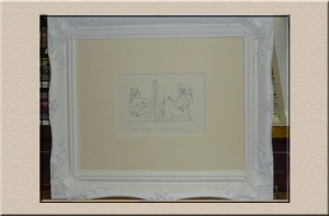 Classic white frame at Campbelltown Framing Gallery