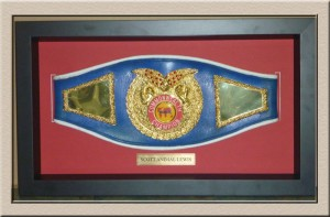 Championship Wrestling belt 3d box at Campbelltown Framing